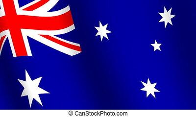 het watergolven dundoek, van, australië