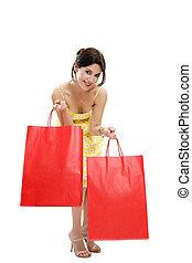 het winkelen zakken