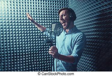 het zingen, man