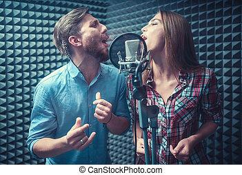 het zingen, mensen