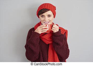 hete koffie, om te, warm up
