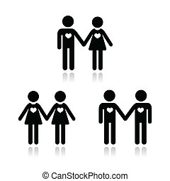 Hetero, gay, and lesbian love coupl - Relationship diverstiy...