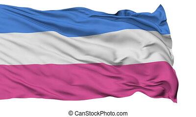 Heterosexual Close Up Waving Flag - Heterosexual Flag, Close...