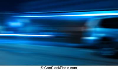hetzen, auto- licht, spuren