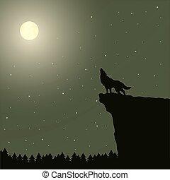 heulen, moon., wolf