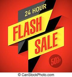 heure, 24, vente, flash
