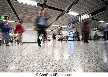 heure, métro, jonc