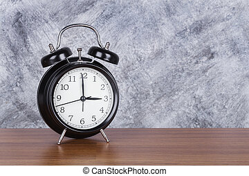 heure, mur, vendange, horloge, 3, bois, fond, table