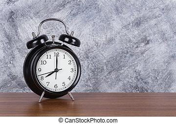 heure, mur, vendange, horloge, bois, fond, 8, table