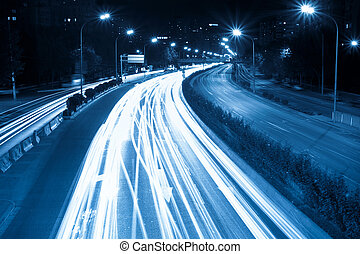 heure, nuit, trafic, jonc