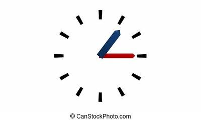 heures, 12, -, horloge