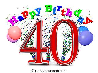 heureux, 40th, anniversaire