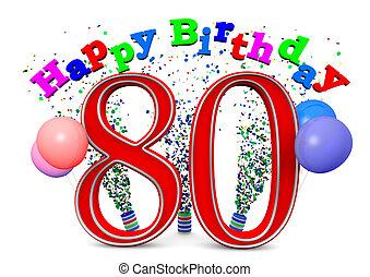 heureux, 80th, anniversaire
