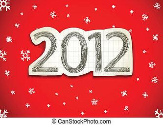heureux, année, 2012