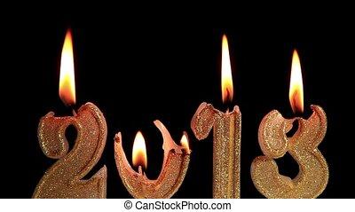 heureux, année, nouveau, 2013