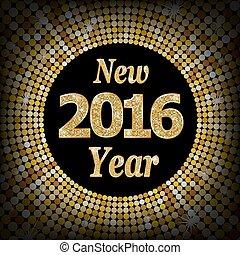 heureux, année, nouveau, 2016