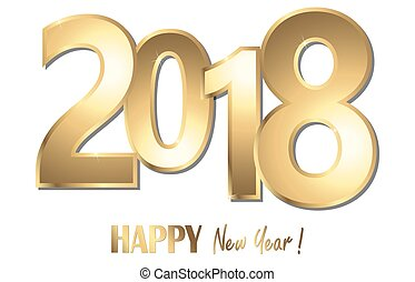heureux, année, nouveau, fond, 2018, salutations