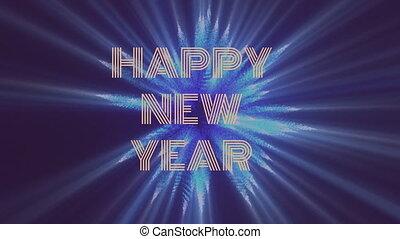 heureux, année, nouveau