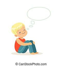 gar on r ver gar on sourire r ver enfantqui commence vecteurs eps rechercher des. Black Bedroom Furniture Sets. Home Design Ideas