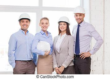 heureux, bureau affaires, équipe