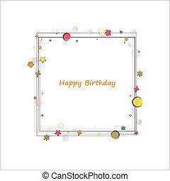 heureux, cadre, anniversaire