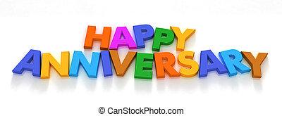 heureux, capital, anniversaire, lettre, aimants