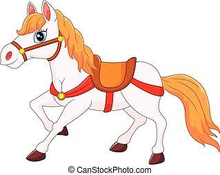 Blanc licorne cheval dessin anim cheval illustration vecteur licorne blanc dessin anim - Dessin anime indien cheval ...