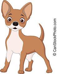 heureux, chien, dessin animé