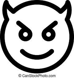 heureux, diable, emoji