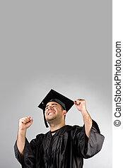 heureux, diplômé, célébrer
