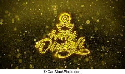 heureux, diya, diwali, carte, invitation, voeux, salutations...