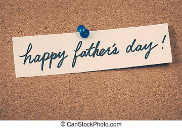 heureux, fête pères