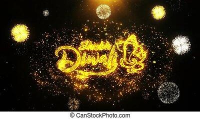 heureux, fait boucle, carte, diwali, invitation, voeux, ...