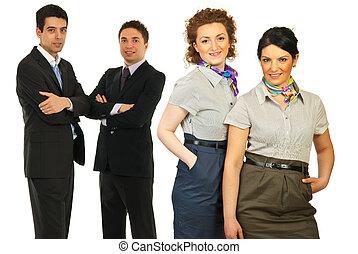 heureux, gens,  Business, équipe