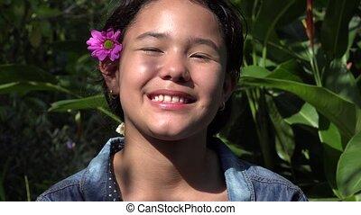 heureux, girl, latin, nature