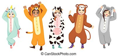 heureux, halloween, costumes, collection, onesie