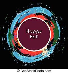 heureux, holi, eclabousse, coloré, autour de