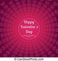 heureux, jour, carte, valentine