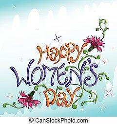 heureux, jour, femmes