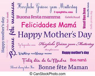 heureux, jour, fond, mère