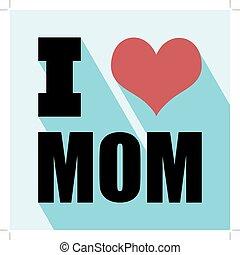 heureux, jour, mères