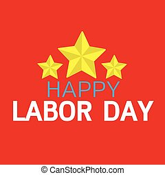 heureux, jour, main-d'œuvre