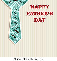 heureux, jour pères, carte voeux