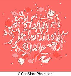 heureux, jour, valentine