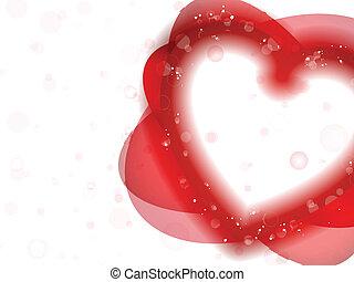 heureux, jour valentine, néon, coeur