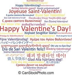 heureux, jour valentine