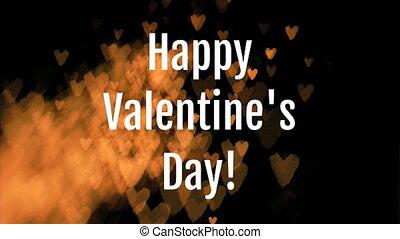 heureux, jour, valentines, texte