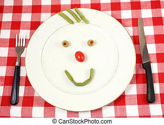 heureux, légumes
