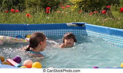 heureux, natation