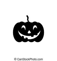heureux, o'lantern, icône, cric, halloween
